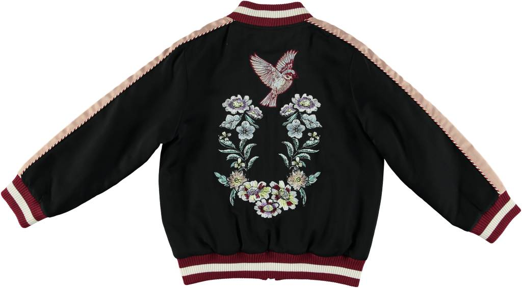 STELLA MCCARTNEY Stella McCartney GIRLS BOMBER JACKET W/ EMBROIDERED BIRDS