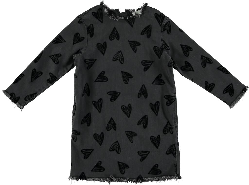 STELLA MCCARTNEY Stella McCartney GIRLS LS DENIM DRESS WITH HEARTS
