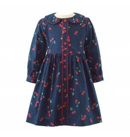 Rachel Riley H18 Cherry LS button front dress