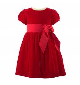 Rachel Riley H18 Velvet Maxi bow dress