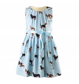Rachel Riley H18 Dog pleated dress