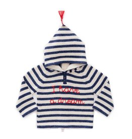 Oeuf H18 striped hooded sweater