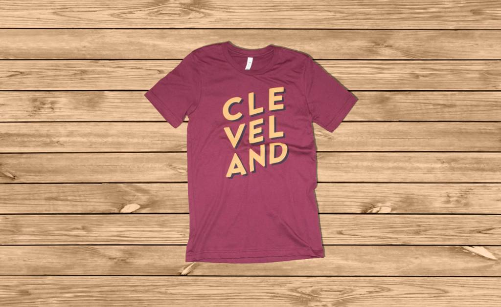 CLE-VEL-AND T-shirt Maroon