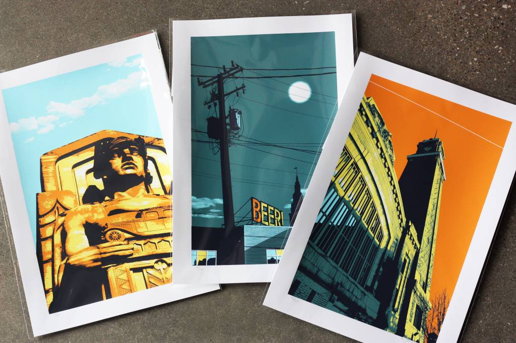 Ohio City Landmark Artist Print - West Side Market