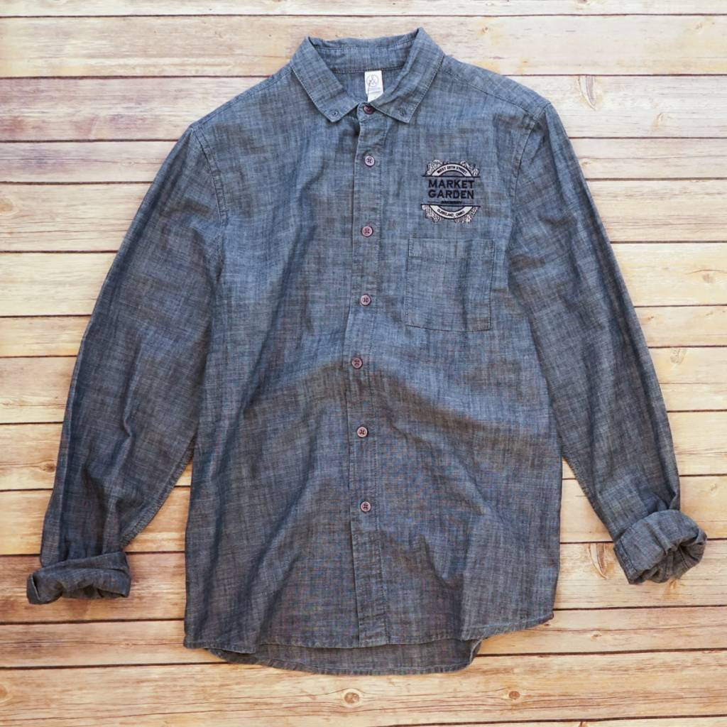 W's Chambray Brewer Shirt Square Logo S