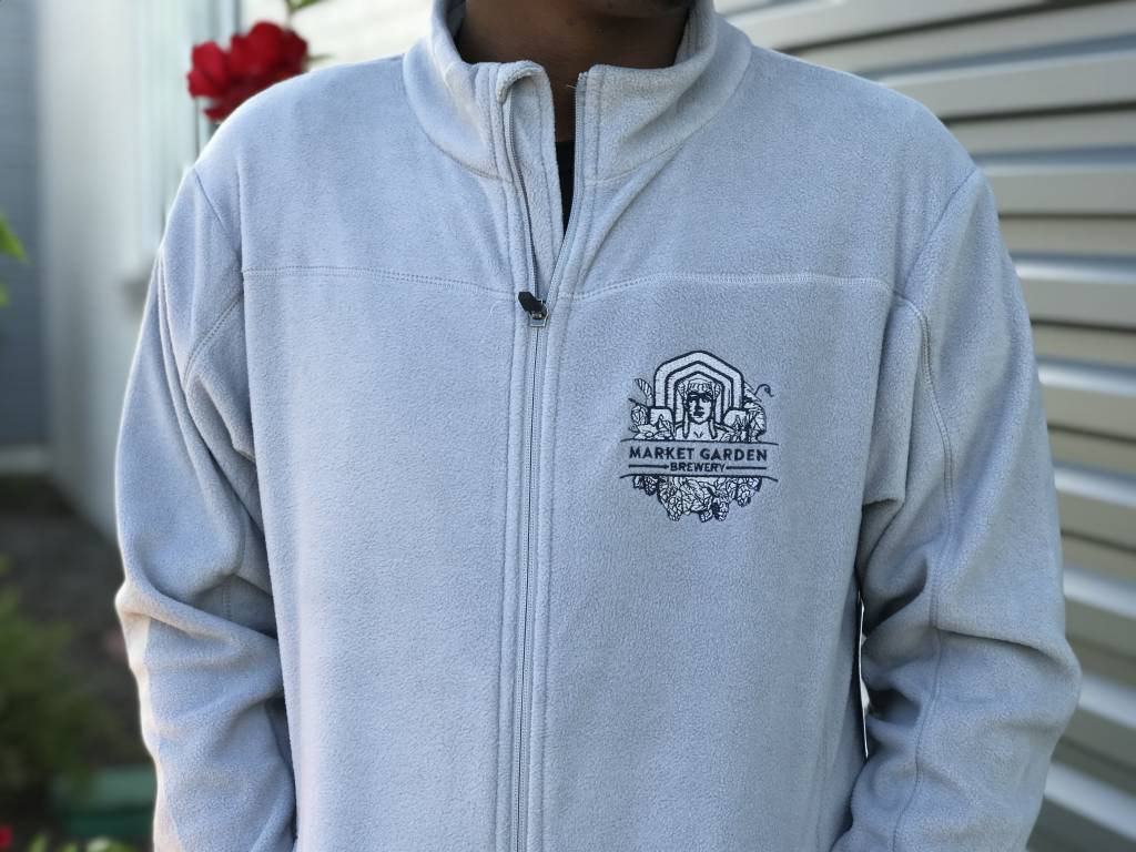 MGB Silver Zip-Up Fleece