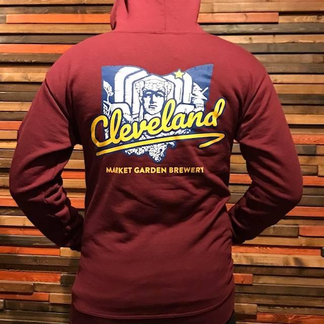 Cleveland Maroon Zip-Up Hoodie