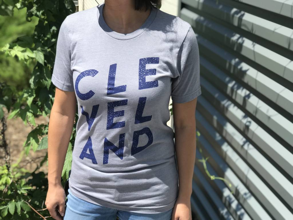CLE-VEL-AND Gray T-Shirt
