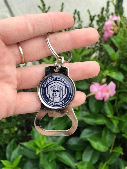 Silver Keychain Bottle Opener