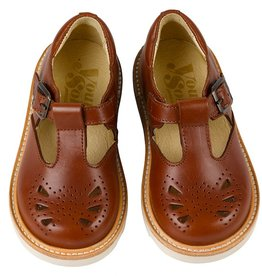 Young Soles Rosie T-Bar Chestnut Brown