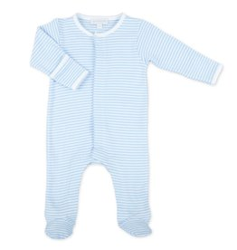 Magnolia Baby Striped Footie Blue