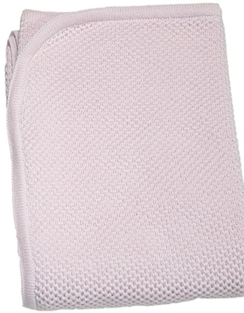 Kissy Kissy Pink Knit Blanket