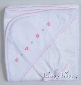 Kissy Kissy Homeward Bound Towel & Mitt Pink