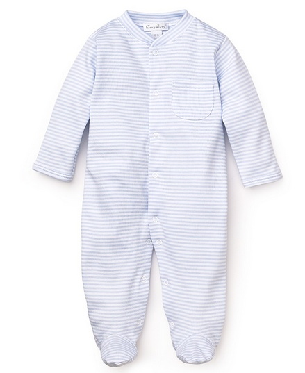 Kissy Kissy Stripes Footie Blue