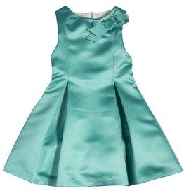 Patachou Emerald Satin Dress