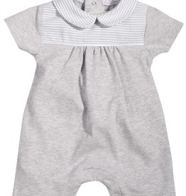 Patachou Grey Knit Baby Romper