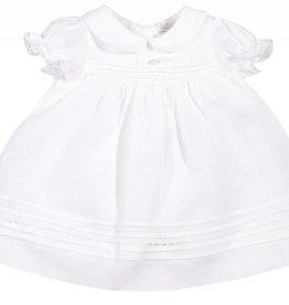 Patachou White Linen & Lace Dress