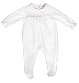 Patachou White Velour Babygrow