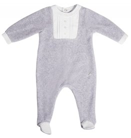 Patachou Grey Velour Babygrow