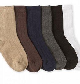 Jefferies Rib Crew Socks