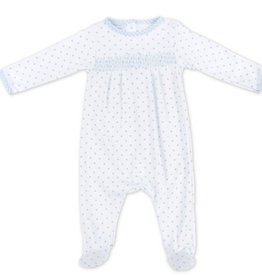 Magnolia Baby Gingham Dots Smocked Footie LB