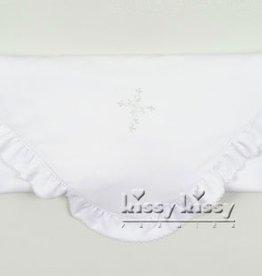 Kissy Kissy Hope's Cross Blanket with Ruffle