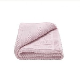Toffee Moon Bubble Knit Receiving Blanket Pink