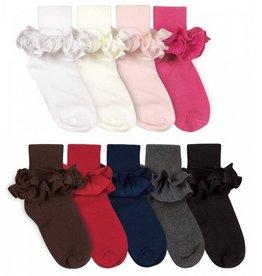 Jefferies Ruffle Turn Cuff Pastel Pink XS