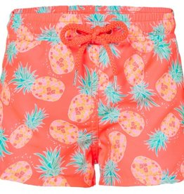 Girls Neon Pineapple Swimshort