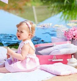 paz rodriguez Dulces Pink Gingham Dress
