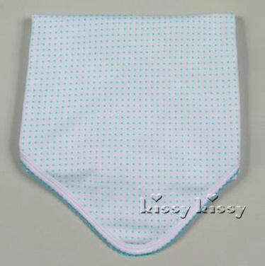Kissy Kissy Kissy Dots Mint Blanket