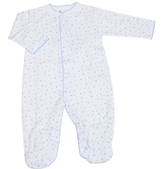 Kissy Kissy Hearts & Stars Footie Blue