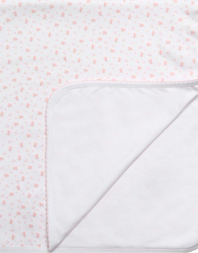 Kissy Kissy Hearts & Stars Pink Blanket