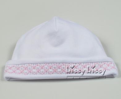 Kissy Kissy Pink & White Bishop Hat