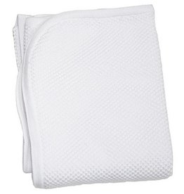 Kissy Kissy White Knit Blanket