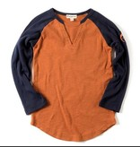 Appaman Baseball Tee Orange/Navy