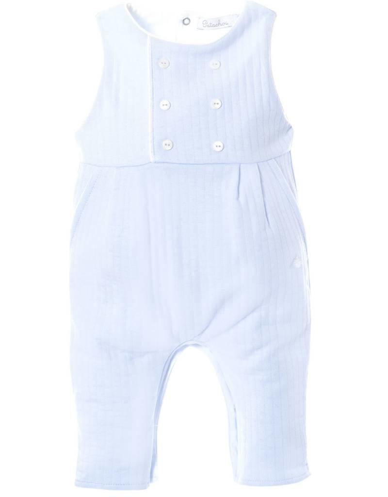Patachou Blue Boy Knit Romper