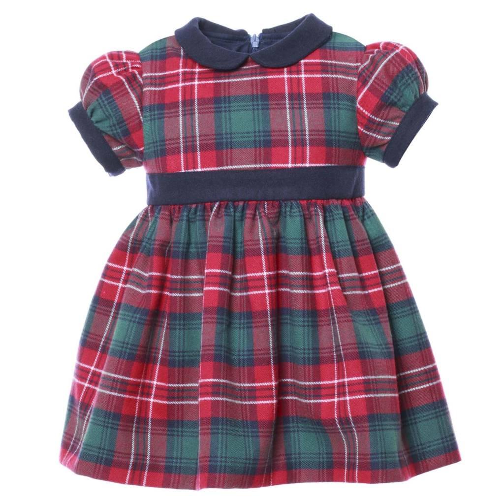 Patachou Baby Tartan Collared Dress