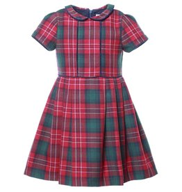 Patachou Tartan Collared Dress