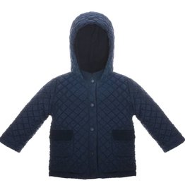 Patachou Navy Quilted Coat