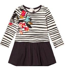 Catimini Floral Stripe Dress