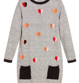 Catimini Heart Pocket Sweater Dress