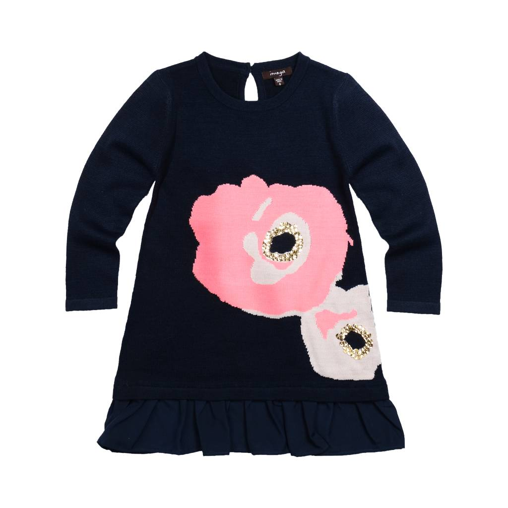 Imoga Sora Navy Floral Dress