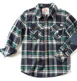Appaman Jungle Navy Plaid Shirt