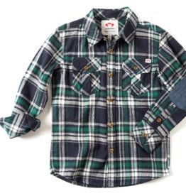 Appaman Jungle Navy Plaid Shirt