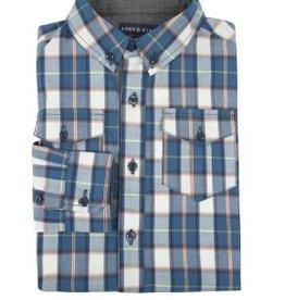 Teal Plaid Shirt