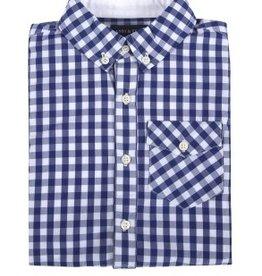 Andy & Evan Navy Gingham Shirt