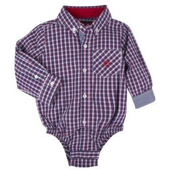 Andy & Evan Red & Navy Check Shirtzie