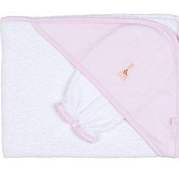 Kissy Kissy Sophie Towel & Mitt Pink