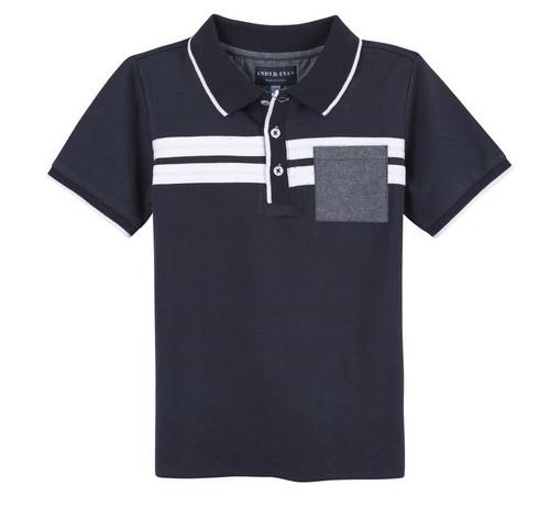 Andy & Evan Navy & White Stripe Polo